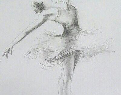 Bailarina A Lápiz. Dibujo