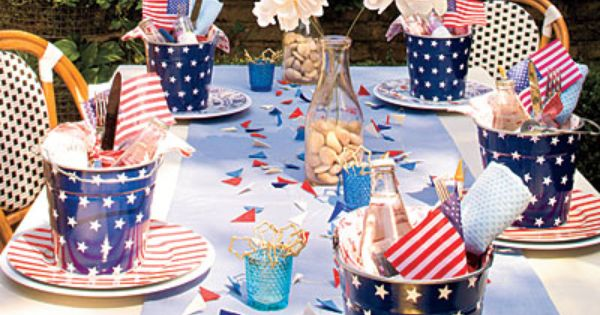 An All-American Party: Table Setting- 4th of July