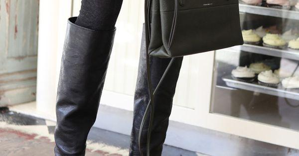 Boots + leggings + skirt