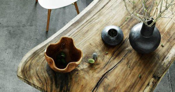 Home Design Inspiration For Your Living Room - Wooden Table