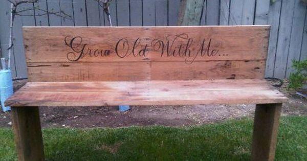 anniversary idea... great garden bench
