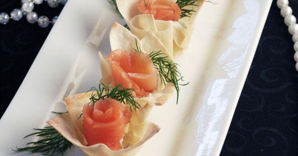 Smoked Salmon and Horseradish Mascarpone in Wonton Cups | Wonton Cups ...