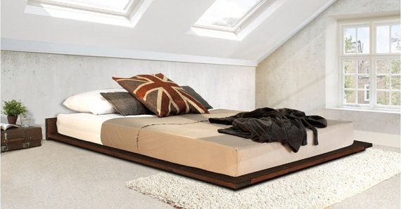 Low Modern Wooden Bed Frame By Get Laid Beds Low Bed Frame