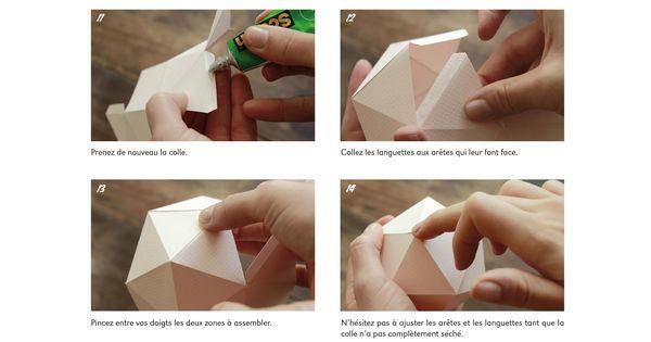 Comment fabriquer une boule de noel en papier projets - Fabriquer une boule en papier ...
