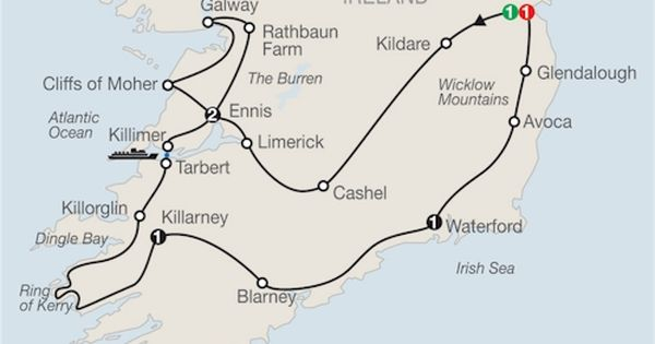 Ireland Vacation-almost the exact route I took! Highly recommended