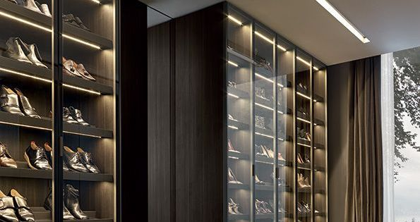 Poliform Closet System Shoe Storage Shelving With