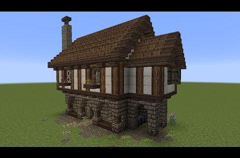 minecraft tutorial kleines haus mittelalterlich youtube minecraft pinterest. Black Bedroom Furniture Sets. Home Design Ideas