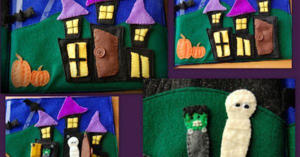 Haunted House Halloween Quiet Book By Schaer Talents