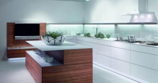 l k che wei mit k cheninsel und tineo holz http www. Black Bedroom Furniture Sets. Home Design Ideas