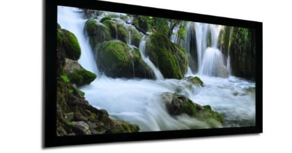 Favi Ff2 Hd 120 16 9 120 Inch Fixed Frame Projector Screen By Favi Entertainment 246 63 The 120 Inch Fi Projector Screen 100 Inch Projector Screen Projector