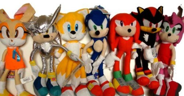 Sega Sonic The Hedgehog X Sonic Shadow Amy Knuckles Tails Cream And Silver Sonic 7 X Large Plush Doll Stuffed Toy Doll Sets Plush Dolls Sonic Birthday Parties