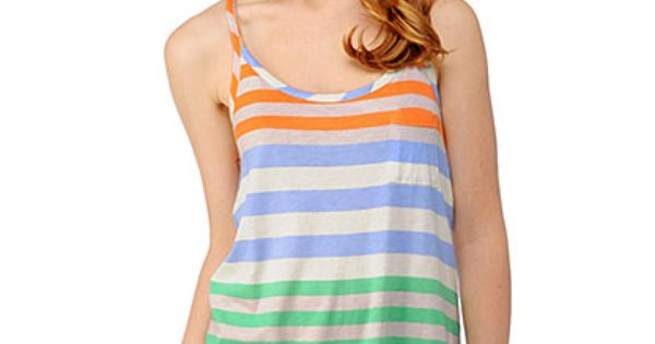 Splendid Tropical Stripe Tank, cute beach look