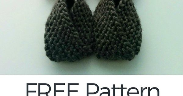 FREE Knitting Pattern: Crossover Baby Booties Baby ...