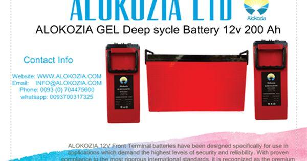 Alokozia Alokozia Ltd Alokozia Gel Deep Sycle Battery 12v 200 Ah Alokozia 12v Front Terminal Batteries Have Been Design Solar Power Energy Solar Power Power