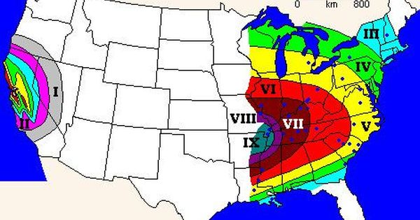 Vermont United States Fault Lines Maps News Of New Madrid Fault