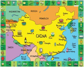 map of china for kids Kids Map For China Smartstix New Products Chinese Cookbook map of china for kids
