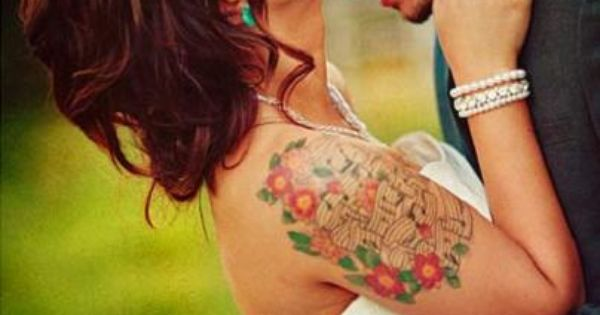 Who said a tattooed bride couldn't be beautiful! Can't wait to get