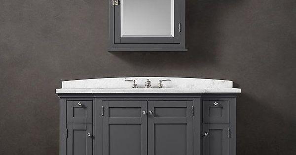 Nautical Bathroom Vanities Restoration Hardware Cartwright Extra Wide Single Vanity New