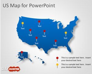 This is a free US Map Shape for PowerPoint presentations ...