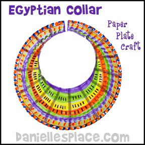 Egyptian Collar Paper Plate Craft From Www Daniellesplace Com