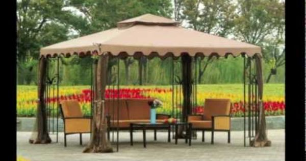 Replacement Canopy For Sunjoy 10 X 12 Double Roof Gazebo Gazebo Replacement Canopy Gazebo Gazebo Pergola
