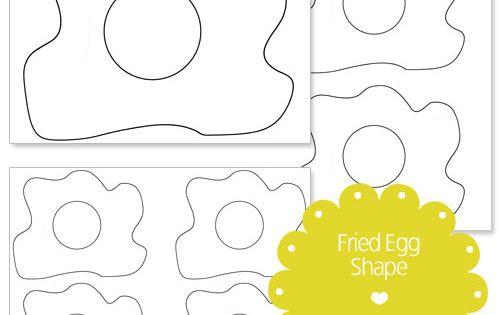 Printable Fried Egg Shape Template Green Eggs Amp Ham