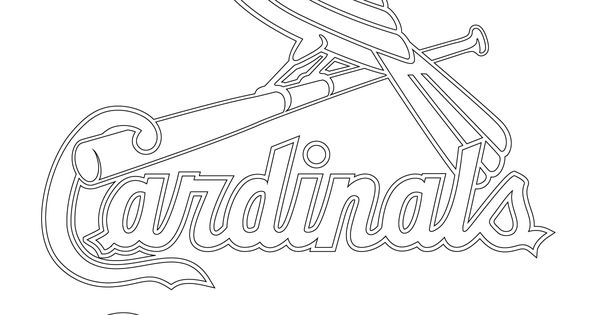 cardinals coloring pages with multiplication | St. Louis Cardinals Logo coloring page | SuperColoring.com ...
