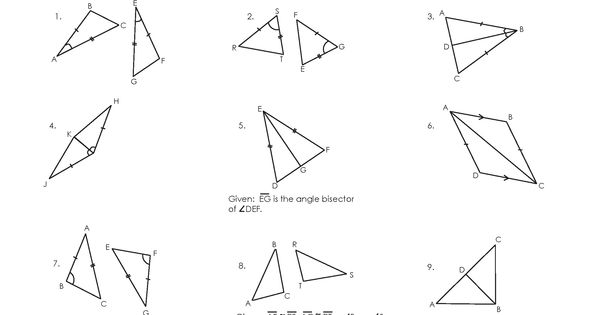 Congruent Triangles Worksheet Triangle Worksheet Congruent Triangles Worksheet Congruent Triangles Congruence worksheets 8th grade
