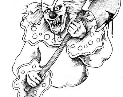 ausmalbilder horror clown | kinder ausmalbilder