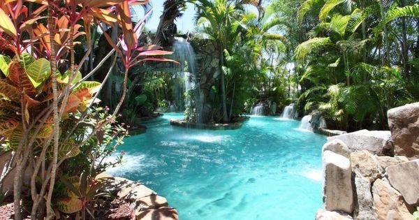 Resort style pool in fort lauderdale fla pools fort for Pool design fort lauderdale