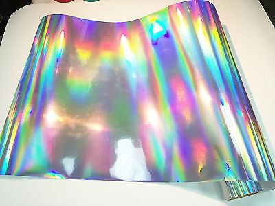 Adhesives 3 sheet of 8 inch x 12 inch Silver Liner Holographic Film