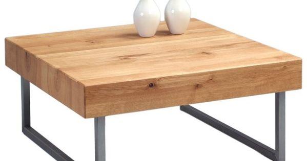 couchtisch wildeiche mit metallgestell inga 1. Black Bedroom Furniture Sets. Home Design Ideas