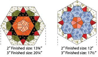 Rose Star Quilt Block Make It With The Kite And Crown Template Sets Hexagon Quilt Tutorial Star Quilts Star Quilt Blocks