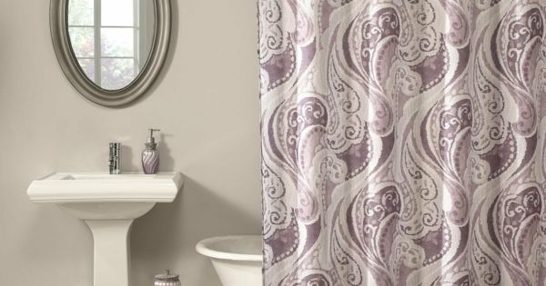Badezimmer Vorhang - schöne Muster und Farben im Bad - http - schöne farben für schlafzimmer