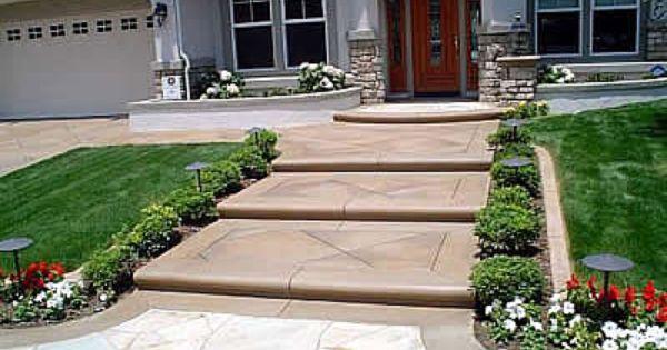 Concrete Steps Design Driverlayer Search Engine Front Yard Landscaping Front Yard Concrete Steps