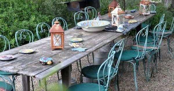 Décoration de jardin: un coin-repas en plein air magnifique  Pièces ...
