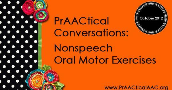 Praactical Conversations Nonspeech Oral Motor Exercises