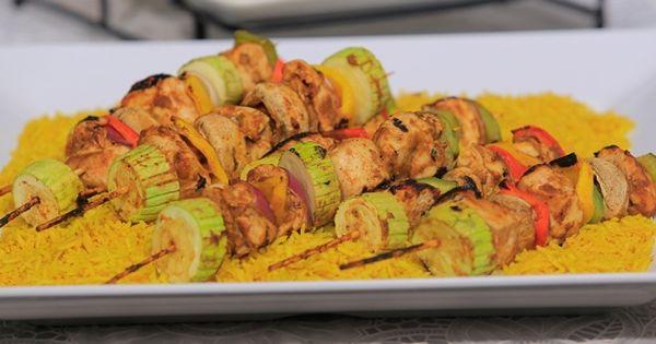 Cbc Sofra طريقة عمل شيش طاووق سالي فؤاد Recipe Recipes Food Zucchini