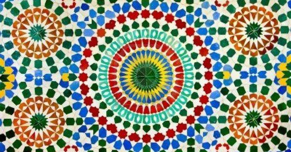 Muro de colorido mosaico marroqu como un bonito fondo for Mosaico marroqui