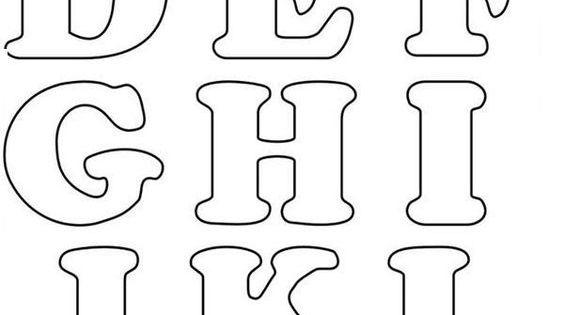 Letras Goticas Para Imprimir: Moldes De Letras Del Alfabeto Para Imprimir