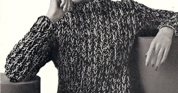 Big Needle Knitted Sweater Pattern, Warm and Bulky. This sweater, knitted on ...