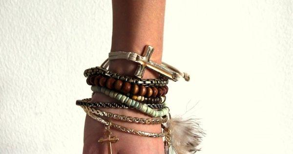 stacked bracelets