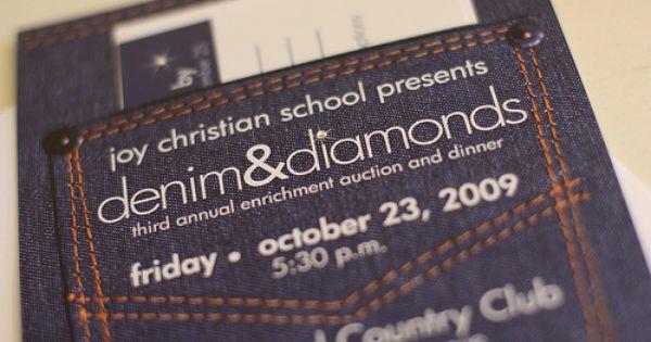 Denim And Diamonds Invitation Jean Pocket Denim And Diamonds