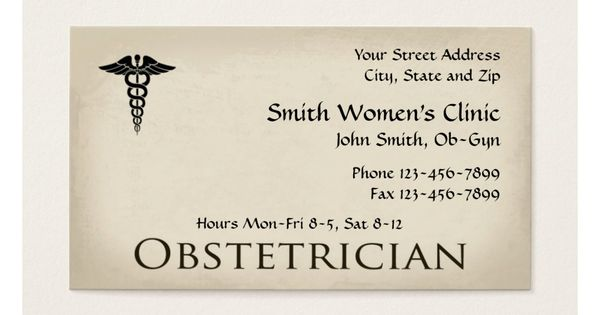 Gynecologist Obstetrician Ob Gyn Business Card Zazzle Com Doctor Business Cards Health Business Make Business Cards