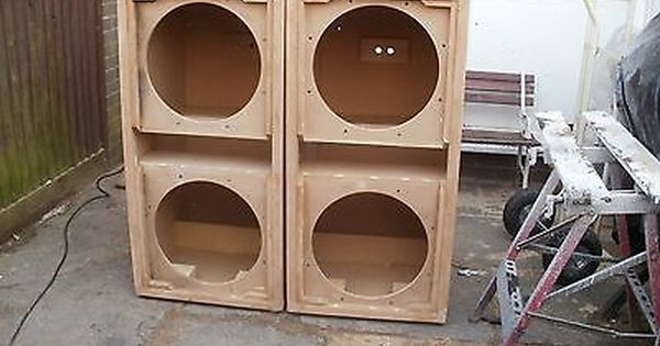 "PAIR of Double 18"" G Sub Reflex bass bins speaker boxs Soundsystem Fane PD"