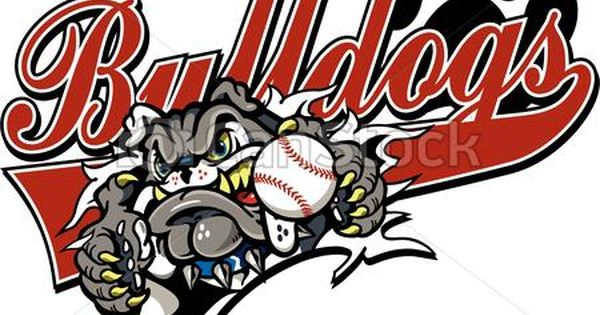 Vector Bulldogs Baseball Stock Illustration Royalty Free Illustrations Stock Clip Art Icon Stock Clipart Icons Logo L Bulldog Cartoon Art Icon Bulldog
