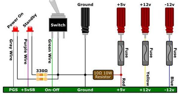Convert An Atx Computer Power Supply Into A Bench Top Power Supply Computer Power Supplies Power Supply Atx