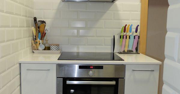 Reforma de cocina peque a en barcelona con baldosa tipo - Reforma cocina pequena ...