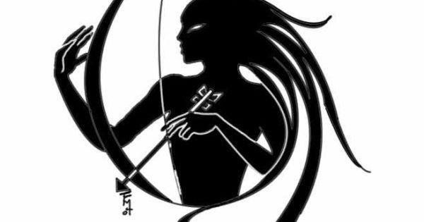 minimalist female archer tattoo design idea cassie