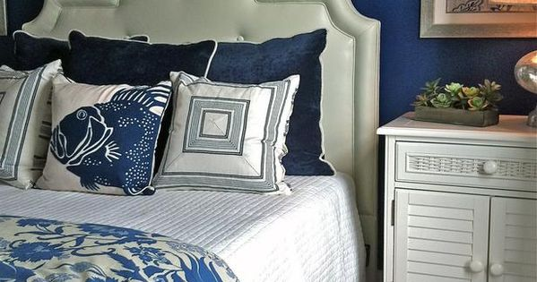 eclectic bedroom by Kim Armstrong, guest room colors without the nautical theme